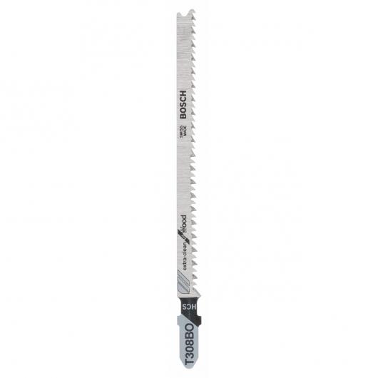 Confezione di 2 lame per sega da traforo T 308 BO Bosch per tagli extra precisi in legno
