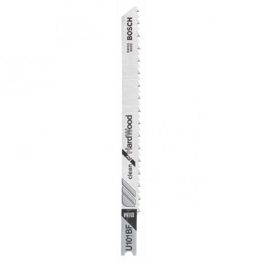 Pack de 2 hojas de sierra de calar U 101 BF Bosch para cortes limpios en madera dura