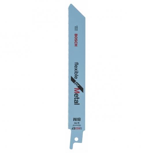 Lot de 2 lames de scie sabre S 922 EF souples Bosch pour coupes du métal