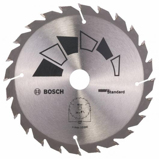 Disco standard Bosch per sega circolare 150 x 20/16 mm 24 denti