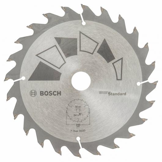 Disco standard Bosch per sega circolare 160 x 20/16 mm 24 denti