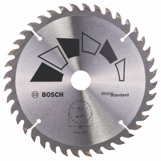 Disque standard Bosch pour scie circulaire 160 x 20/16 mm 40 dents