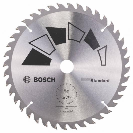 Disco estándar Bosch para sierra circular 190 x 20/16 mm 40 dientes