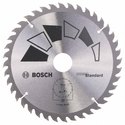 Disco estándar Bosch para sierra circular 190 x 30/24 mm 40 dientes