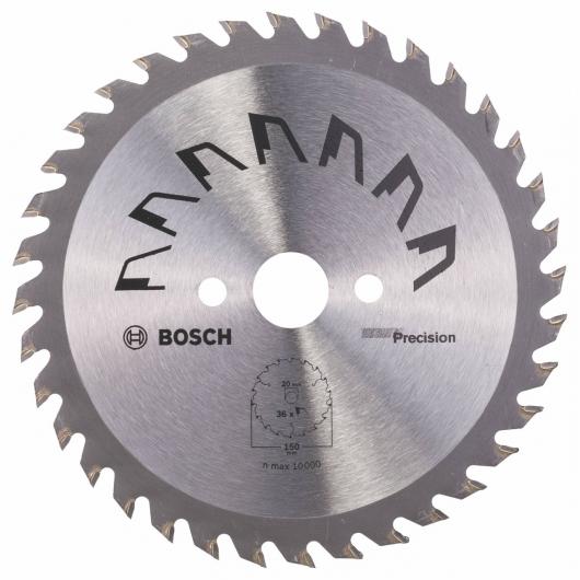 Disque de précision Bosch pour scie circulaire 150 x 20/16 mm 36 dents