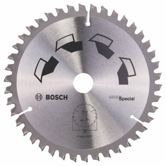 Disque tous matériaux Bosch pour scie circulaire 160 x 20/16 mm 42 dents