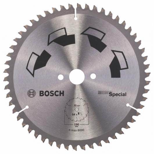 Disco multimateriale Bosch per sega circolare 190 x 20/16 mm 54 denti