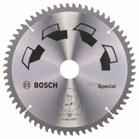Disque tous matériaux Bosch pour scie circulaire 210 x 30 mm 64 dents