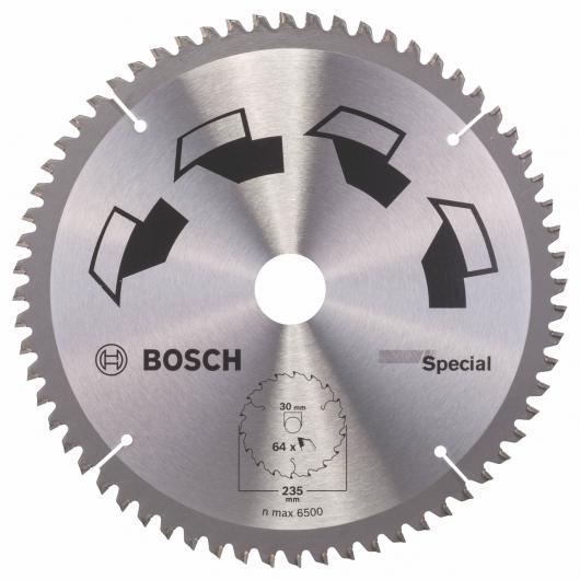 Disco multimaterial Bosch para sierra circular 235 x 30 mm 64 dientes