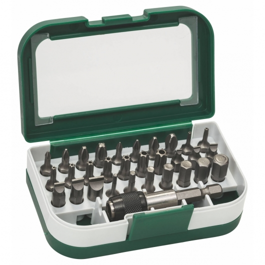 Set de 31 puntas para atornillar Bosch con portapuntas