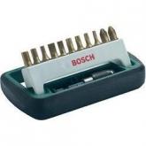 Set de 11 puntas estándar para atornillar Bosch Titanium con portapuntas