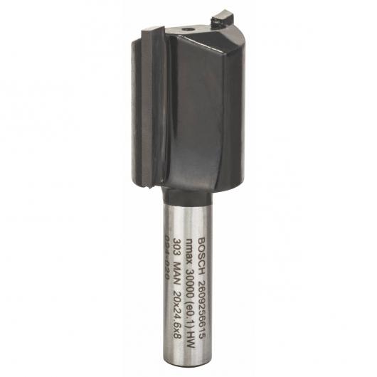 Fresa Bosch HM de dos filos para ranurar 8 x 20 mm