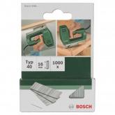 Paquet de 1000 clous Bosch pour agrafeuses 16 mm