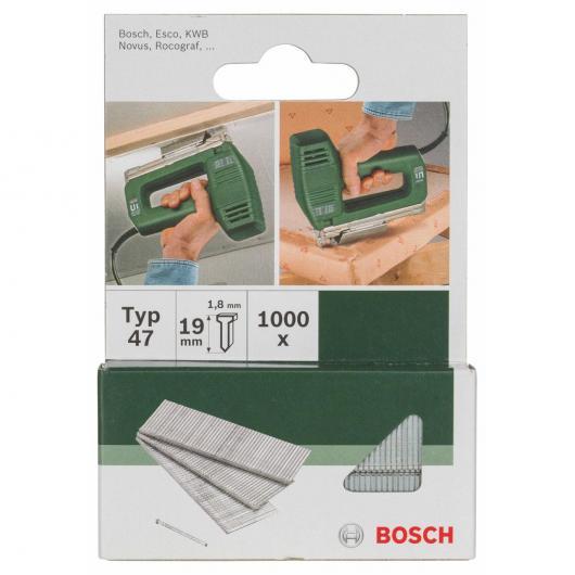 Confezione di 1000 chiodi Bosch Per graffatrice 1.8 x 1.9 mm