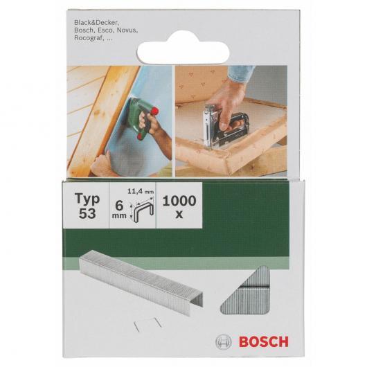 Pack de 1000 grapas Bosch para grapadoras 11.4 x 6 mm