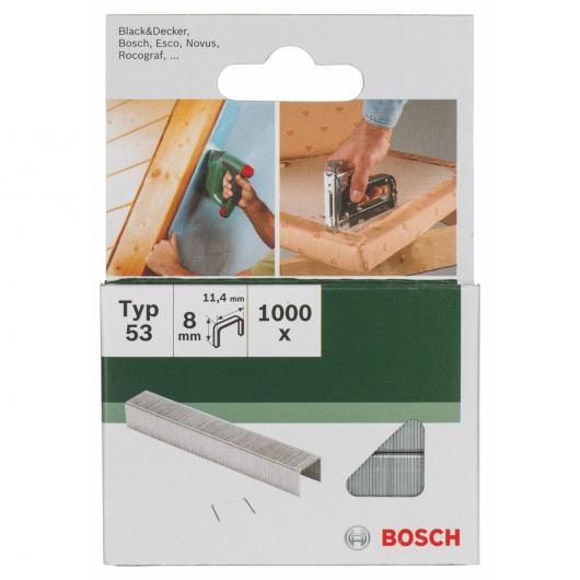 Paquet de 1000 agrafes Bosch pour agrafeuses 11,4 x 8 mm