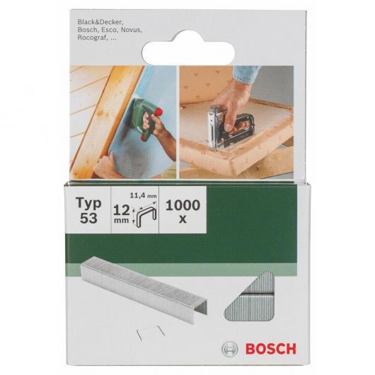 1000 grapas Bosch para grapadoras 11.4 x 12 mm