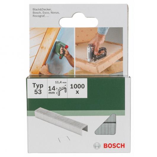 Paquet de 1000 agrafes Bosch pour agrafeuses 11,4 x 14 mm