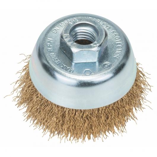 Cepillo de alambre ondulado Bosch para amoladora 70 mm