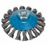 Cepillo de alambre cónico trenzado Bosch para amoladora 100 mm