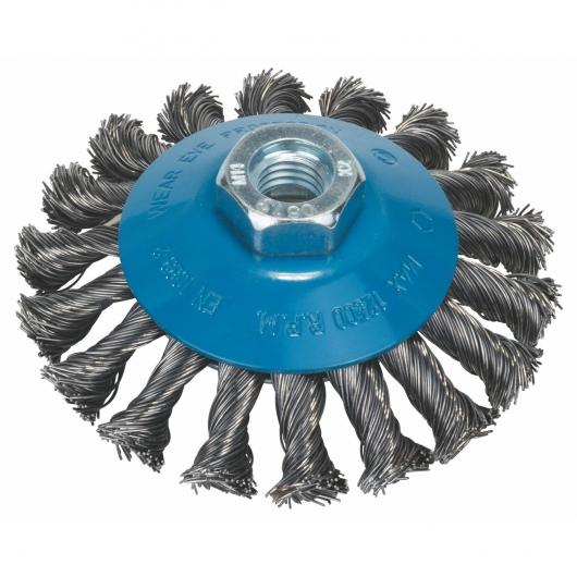 Brosse en fil métallique tressé conique Bosch pour meuleuse 100 mm