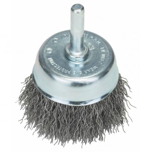 Spazzola con filo metallico ondulato Bosch per trapano 50 mm