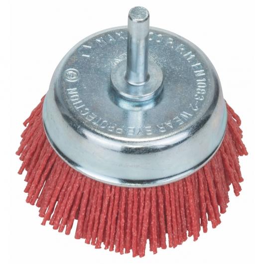 Cepillo de alambre de nylon con corindón Bosch para taladro 75 mm