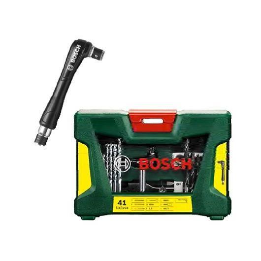 Maletín Bosch V-line de 41 piezas para taladrar y atornillar