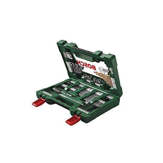Maletín Bosch V-line de 91 piezas para taladrar y atornillar
