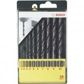 Set de 10 brocas Bosch HSS-R para metal