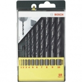 Set di 10 punte Bosch HSS-R per metallo