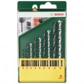Lot de 9 forets Bosch HSS-R pour le métal