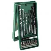 Set Bosch Mini X-Line de 15 piezas para taladrar y atornillar