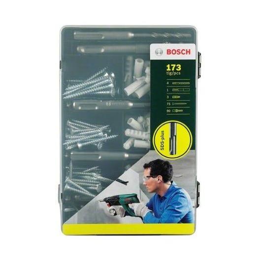 Set de fijación estándar SDS-Plus Bosch de 171 piezas