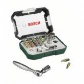 Set di 26 pezzi Bosch con cricchetto per avvitare