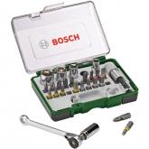 Set di 27 pezzi Bosch con cricchetto per avvitare