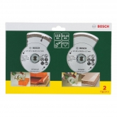 Lot de 2 disques diamant Bosch 115 mm universels + carrelage