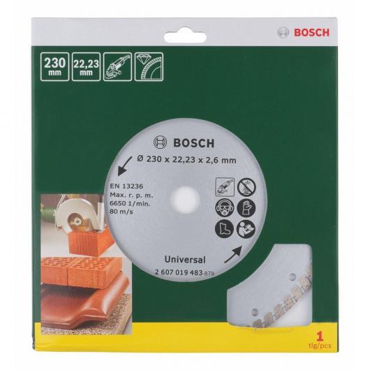 Disco diamantato universale Bosch Turbo Pomoline 230 mm