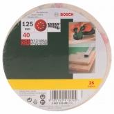 25 abrasifs Bosch avec velcro et perforation pour ponceuse excentrique 125 mm