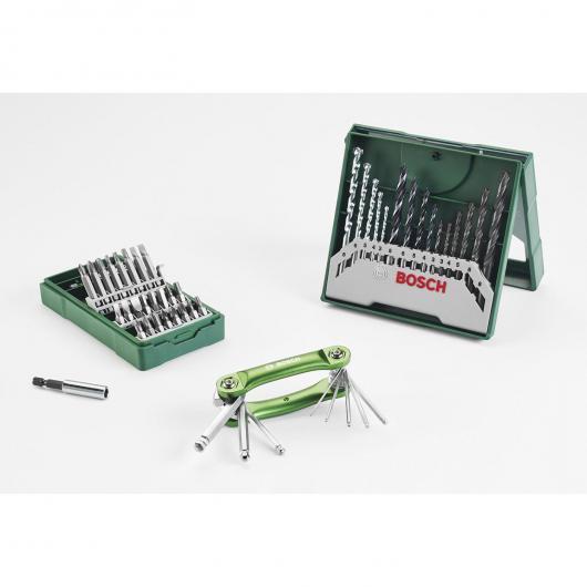 Set Mini X-Line Bosch de 40 piezas para taladrar y atornillar