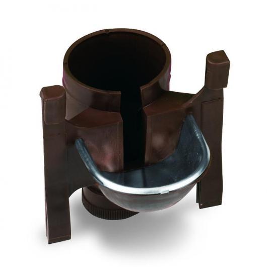 Structure de fontaine mixte avec couvercle