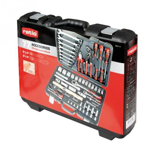 Mallette à outils avec 77 pièces Ratio