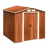Caseta metálica color madera Artemisa Duramax