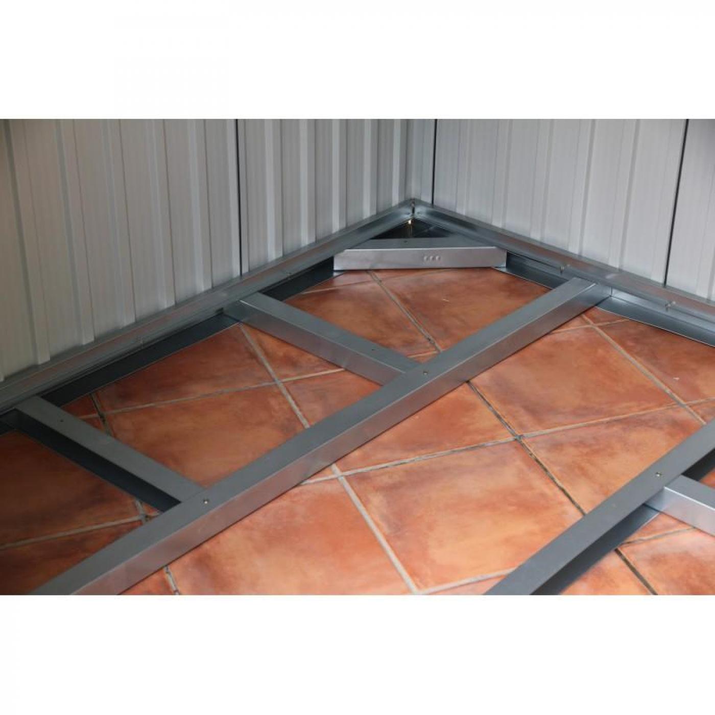 Casetta metallica color legno artemisa duramax per 597 45 in planeta huerto - Cassette da giardino ...