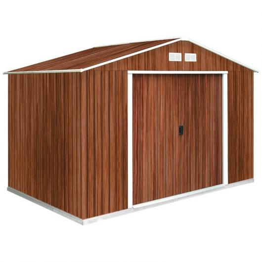 Caseta metálica color madera Hércules Duramax