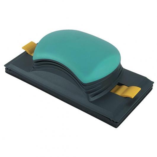 Wolfcraft 5890000 - 1 lijador universal 2K para tiras abrasivas 93 x 230 mm y rollo de papel de lija de 93 mm de ancho, para superficies y esquinas rectangulares 93 x 185 mm