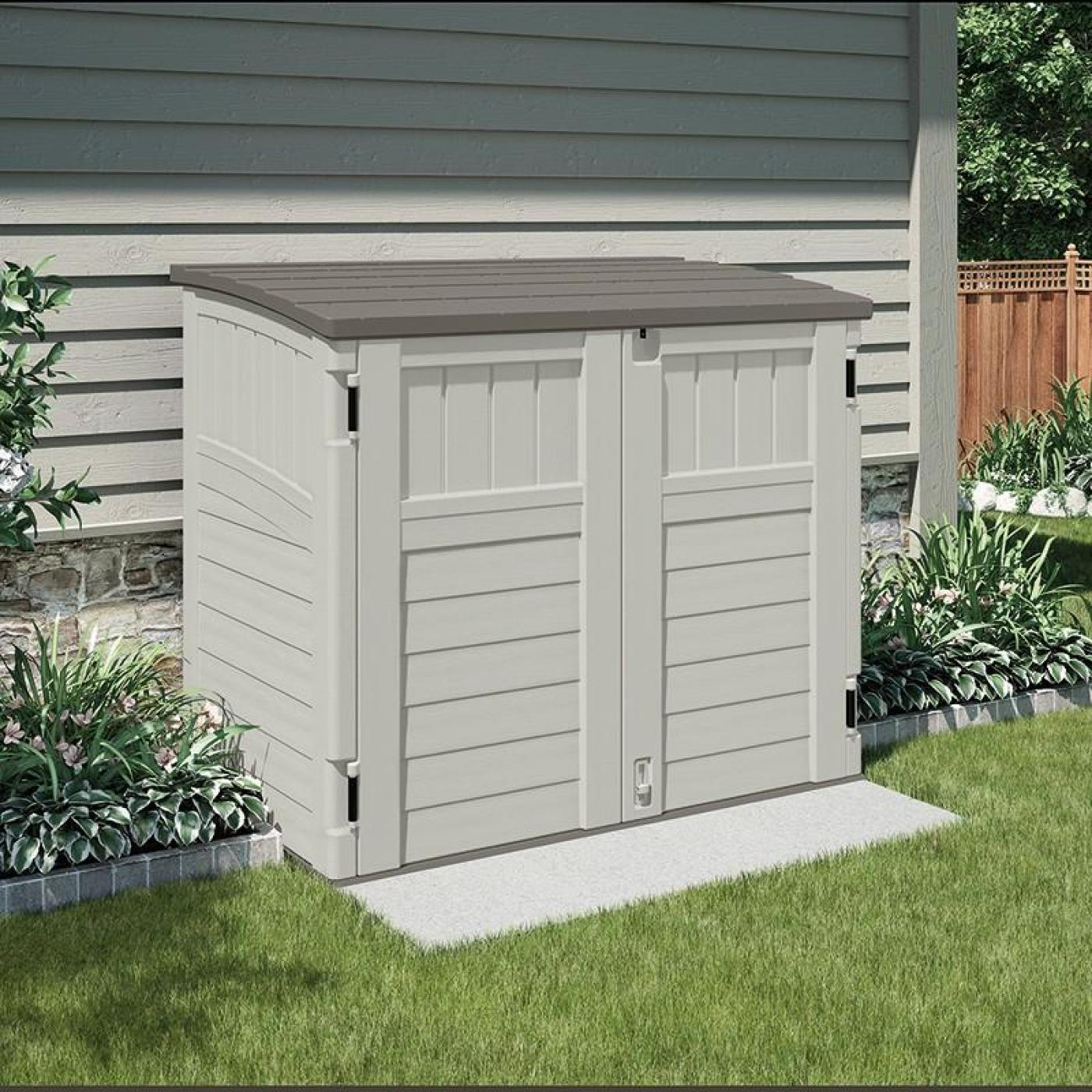 Arc n de jard n bms 2500 con puertas frontales suncast por for Arcones de jardin