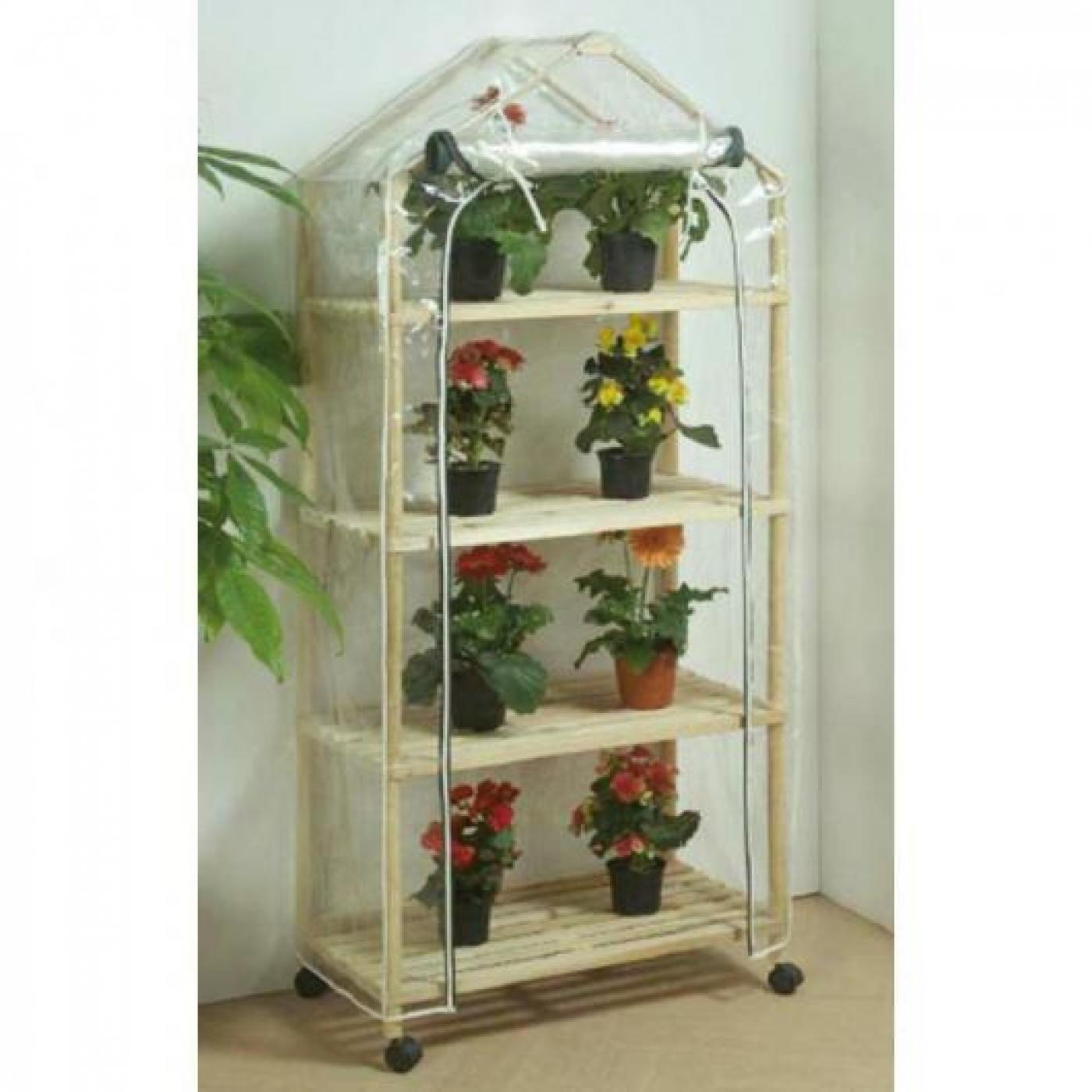 Recambio funda invernadero madera 4 estantes con ruedas - Invernaderos para terrazas ...