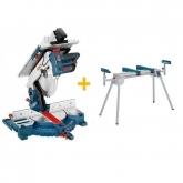 Troncatrice / tavoloda taglio GTM 12 JL professionale 1800 W + Tavolo da lavoro Bosch