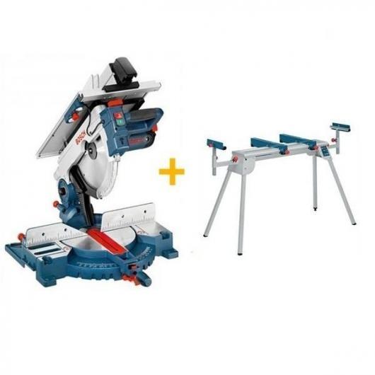 Scie à onglet / table de coupe GTM 12 JL professionnelle 1800 W + table de travail Bosch
